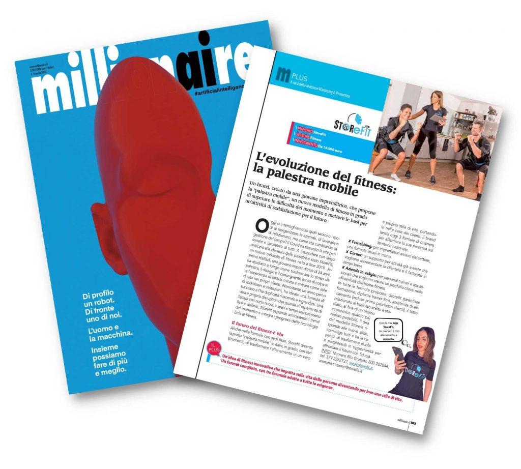 Copertina Millionaire della rivista che contiene l'articolo StoreFit